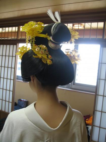 花嫁のカツラ