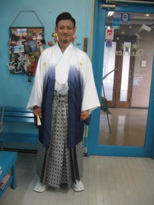 成人式の男袴