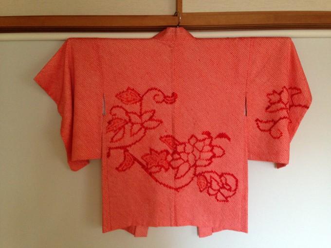 赤絞り羽織