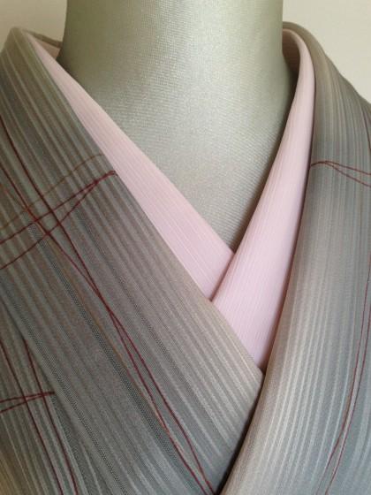 きものの衣替えと楊柳の半衿