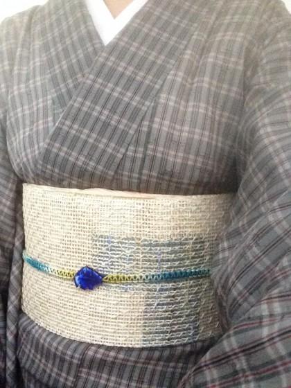 こんな着物コーディネイト…夏黄八に羅の帯