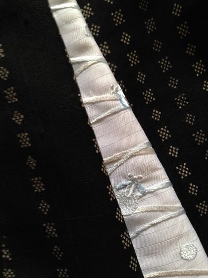 こんな着物コーディネイト…絹芭蕉のきものに螢尽くし