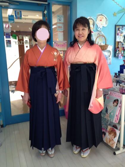 卒業式出席の先生…卒業袴のお着付け