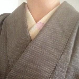 こんな着物コーディネイト…結城紬に仕立て替え染め名古屋帯