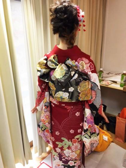 成人式のお着付け…2017年最初のお嬢様