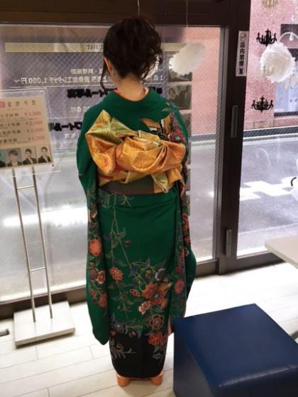 成人式のお着付け…3人目のお嬢様